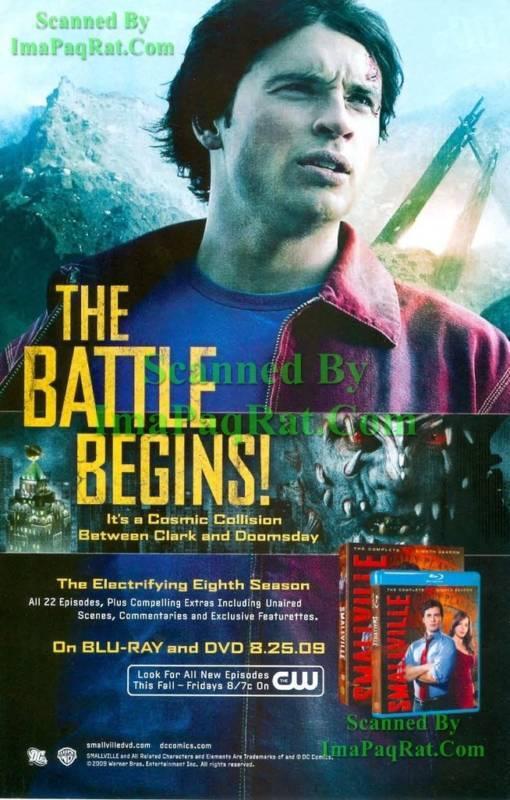 Smallville: Clark vs Doomsday: 8th Season DVD Print Ad!