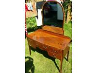 Retro vintage antique dressing table