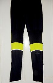 Womens MiFit Black & Neon Running Pants/Tights size 8
