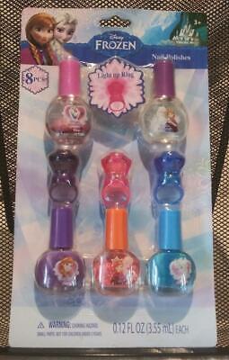 Disney Frozen Nail Polish 8 pc Set 5 Polishes, 3 Light up