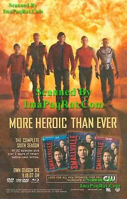 Smallville: More Heroic: 6th Season DVD: Photo Print Ad