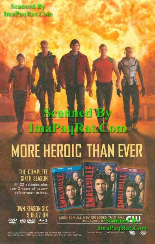 Smallville More Heroic Photo Print Ad Flash Green Arrow Superman Cyborg Aquaman