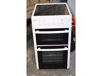 6 MONTHS WARRANTY Beko 50cm, double oven electric cooker FREE DELIVERY
