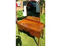 Vintage retro antique dressing table.