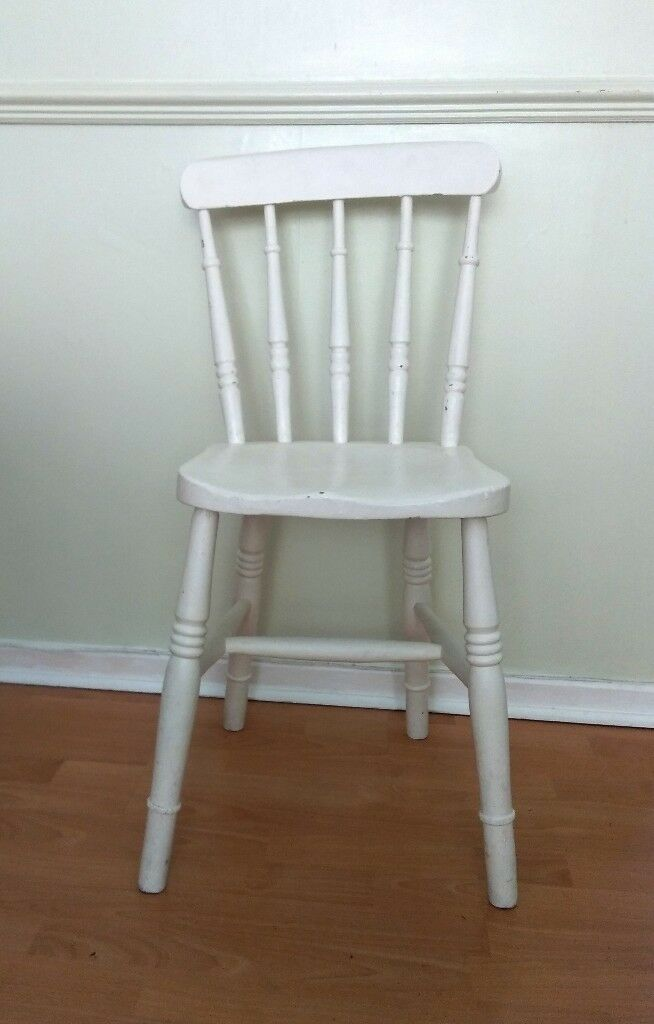 Kitchen Chair Shabby Chic Pine Painted Off White
