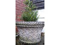 Stone concrete flower pot