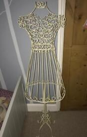 Metal dummy shabby chic stand