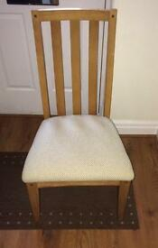6 x solid oak dining chairs