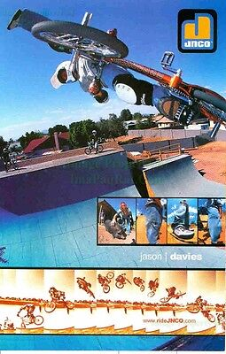 Jnco Industries  Jason Davies Team Jnco  Bmx Potbelly Pig  Great Photo Print Ad