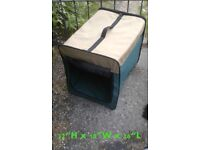 Various sizes of fold down pet carriers/crates