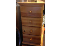 pine chest of drawer bed side table in real heavy pine wood