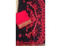 Beautiful black net sari
