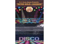 Retro Gold Jukebox Disco & DJ For Hire.