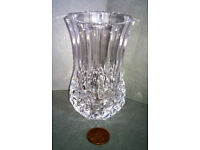 cut glass wide vase