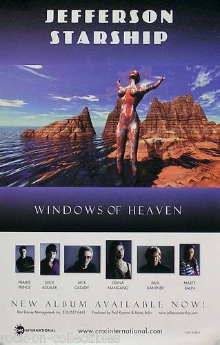 Jefferson Starship 1992 Windows Of Heaven Original Promo Poster