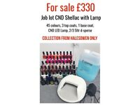 Genuine CND Shellac with CND Lamp - 45 colours, base coat, top coat, lamp, alcohol