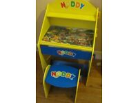 Child`s Noddy character Writing desk and stool