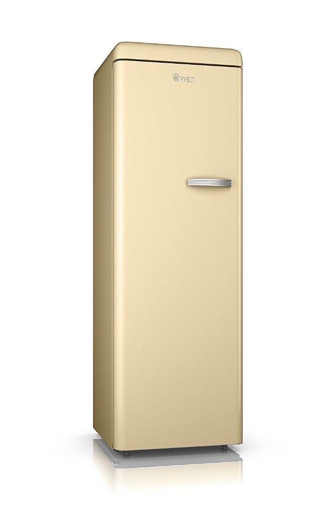 Tall cream retro Swan freezer