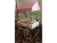 Sweet Candy Cart Handmade From Solid And Plywood With Sweet Jars Ideal For Weddings, Parties, Etc