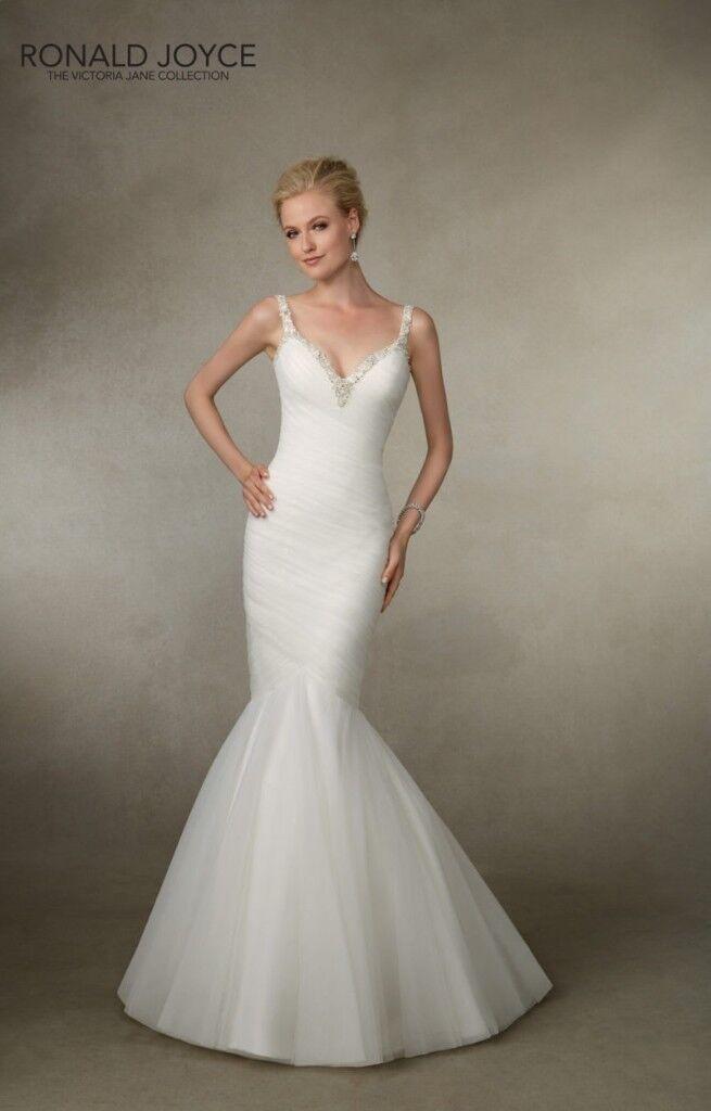 Ronald Joyce Joanna Wedding Dress (Brand New) Fishtail Mermaid Style ...