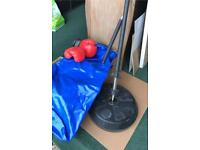 Boxing set with gloves floor-standing