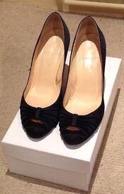 Ladies LK Bennett Satin cocktail shoes size 5.