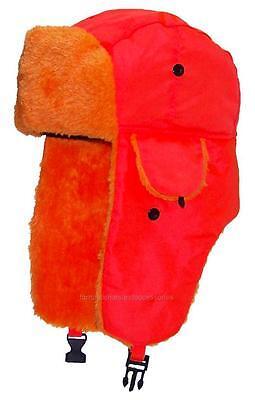 Kids Lightweight Neon Russian/Trooper Faux Fur,Snow,Ski,Winter Hat, #195 Orange](Kids Russian Hats)