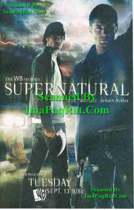Supernatural Premier Sam Dean Jensen Ackles Jared Padalecki Sexy Photo Print Ad!