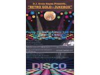 Retro Gold Jukebox Disco & DJ For Hire.