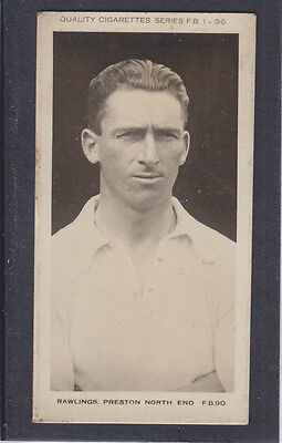 Pattreiouex - Footballers  (FB1-96) 1923 - # 90 Rawlings - Preston