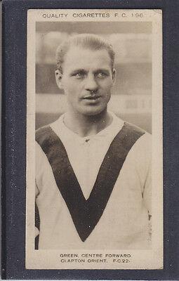 Pattreiouex - Footballers  (FC1-96) 1923 - # 22 Green - Clapton Orient