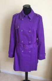 LOVELY BRAND NEW (with tags) LADIES PURPLE MAC from OASIS size 12