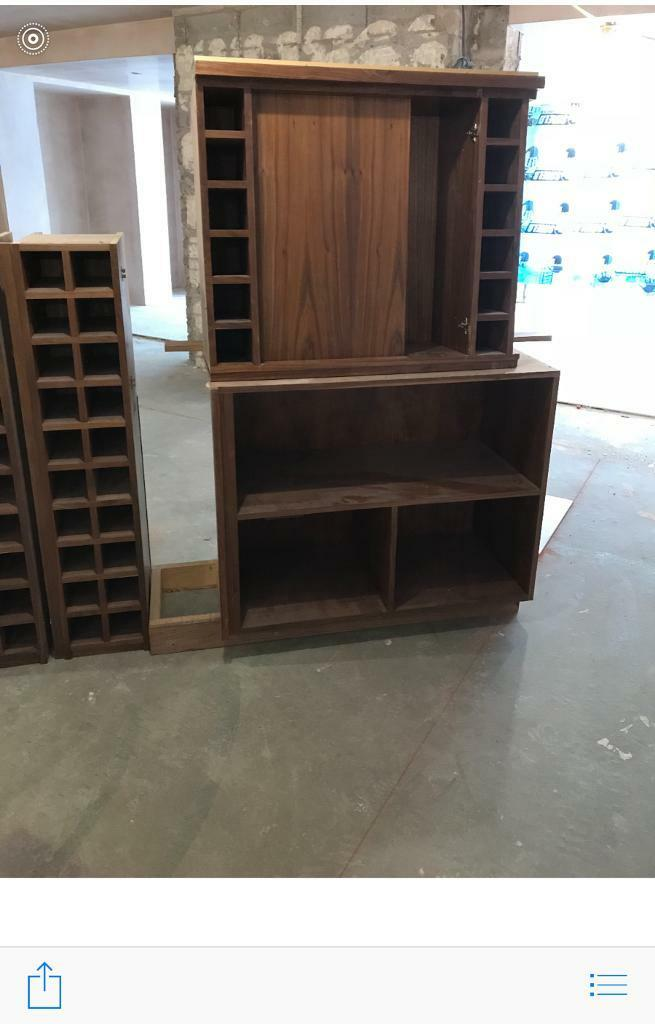 Walnut Veneer Wine Storage units/cupboards, DISMANTLED READY TO COLLECT