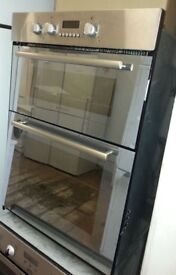 Stainless Hotpoint built In 'eye level' double oven