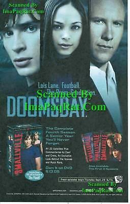 Smallville Clark Lana Lex 4th Season DVD Photo Print Ad