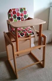 High Chair & Toddler table chair Combo