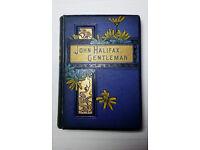 Vintage Antique Decor Book 19th Century Novel MRS. CRAIK: JOHN HALIFAX, GENTLEMAN