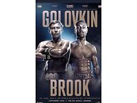 BROOK VS GOLOVKIN X2 TICKETS + EXCLUSIVE SKY BACKSTAGE LOUNGE