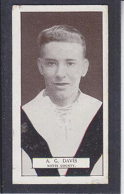 Pattreiouex - Footballers Series 1927 - # 63 Davis - Notts County
