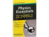PHYSICS Essentials for DUMMIES Book - NEW
