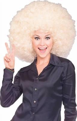 rücke Spaß Kostüm Zubehör (Blonde Afro-perücke Kostüm)