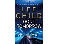 New Lee Child Gone Tomorrow
