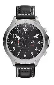 Armani Aeroracer Black Dial Chronograph Watch