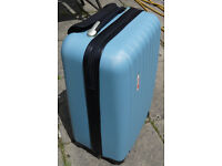 Suitcase Hand luggage Travel Bag Size Light Blue Excellent Condition But Handle Needs Repair