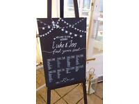Wedding Chalk boards & Signs