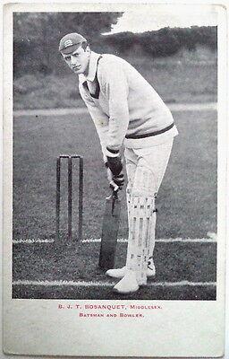 B J T BOSANQUET ENGLAND TO AUSTRALIA 1903-04 POSTCARD