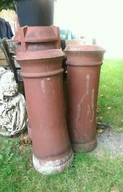 2 medium chimney cannons
