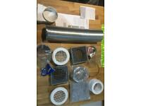 Air ventilation ducting extract spares 100mm