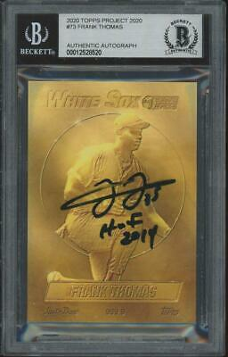 2020 Topps Project #73 Frank Thomas Auto RC Rookie BGS/BAS