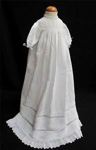 ANTIQUE-VICTORIAN-EMBROIDERED-VALENCIENNES-LACE-BABY-CHRISTENING-GOWN-c-1890